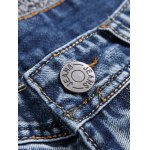 Frayed Stitching Scratched Zipper Fly Ripped Jeans deal