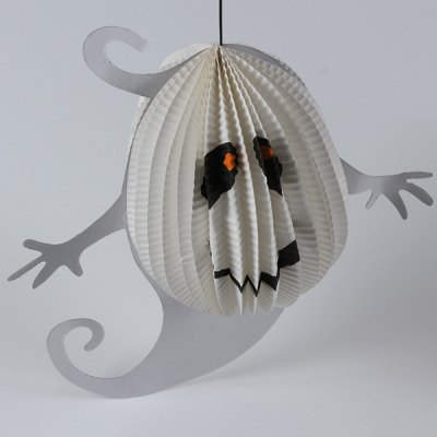 Halloween Ghost Pattern Paper Hanging Lantern Decoration Party