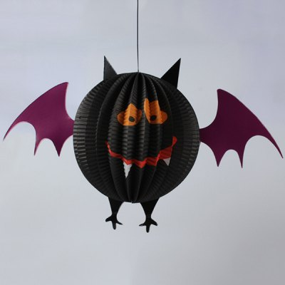 Halloween Party Bat Skeleton Paper Lantern Decoration