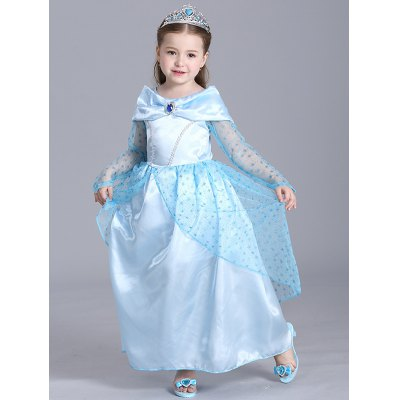 Kids Halloween Christmas Princess Dress Cinderella Cosplay Dress