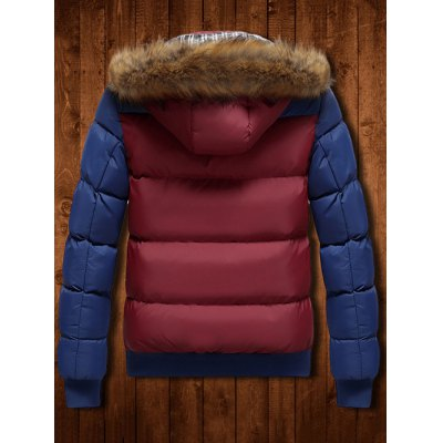Detachable Faux Fur Hood Zip Up Two Tone Quilted JacketMens Jackets &amp; Coats<br>Detachable Faux Fur Hood Zip Up Two Tone Quilted Jacket<br><br>Clothes Type: Padded<br>Collar: Hooded<br>Material: Faux Fur, Polyester<br>Package Contents: 1 x Jacket<br>Season: Winter<br>Shirt Length: Regular<br>Sleeve Length: Long Sleeves<br>Style: Fashion<br>Weight: 0.940kg