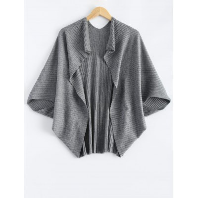 Batwing Sleeve Cape Cardigan