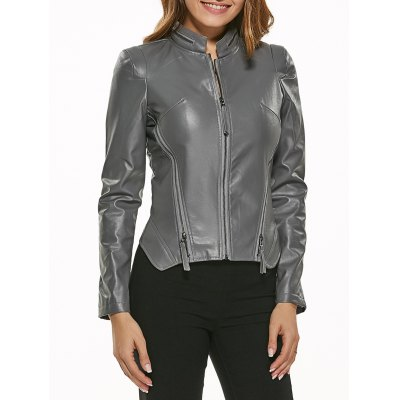 Zip-Up Motorcycle Jacket
