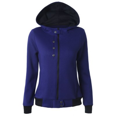 Hooded Buttoned Cottony Jacket
