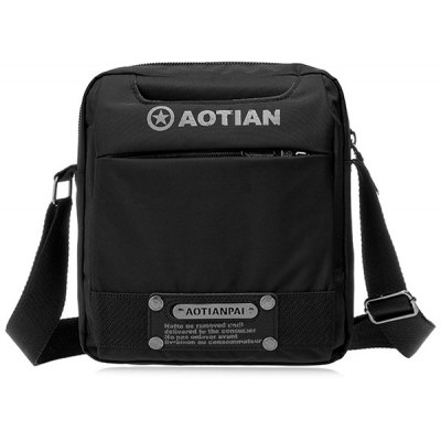 Metal Nylon Dark Colour Messenger Bag