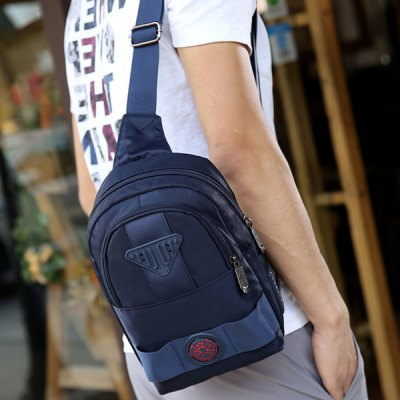 Dark Colour Nylon Double Zipper Crossbody BagMens Bags<br>Dark Colour Nylon Double Zipper Crossbody Bag<br><br>Gender: For Men<br>Pattern Type: Solid<br>Closure Type: Zipper<br>Main Material: Nylon<br>Length: 18.5CM<br>Width: 6.5CM<br>Height: 26.5CM<br>Weight: 0.374kg<br>Package Contents: 1 x Crossbody Bag
