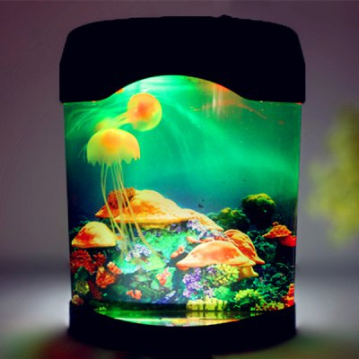 LED MultiColor Sea World Swimming Jellyfish Lamp Night Light