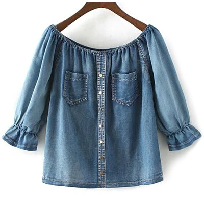 Off The Shoulder Denim Top