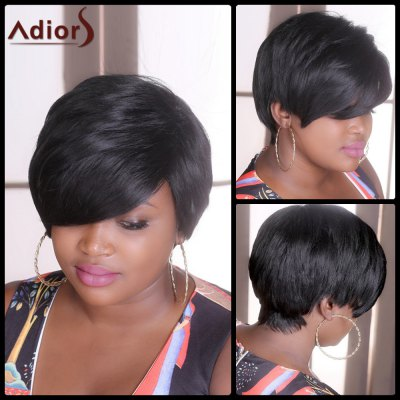 Short Straight Fluffy Adiors Synthetic Wig