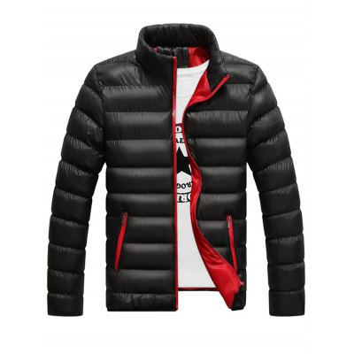 Contrast Zipper Quilted Jacket