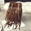 Chain Metal Rivets Splicing Crossbody Bag for sale