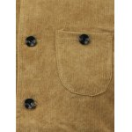 Color Block Splicing Corduroy Stand Collar Single-Breasted Jacket deal