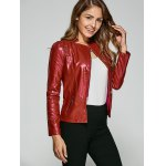 cheap Fitting Zip-Up Biker Jacket