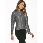cheap Fitting Zip-Up Motorcycle Jacket