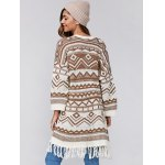 Relaxed Fringe Jacquard Cardigan deal