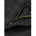 Flocking Lined Zipper Fly Casual Pants deal