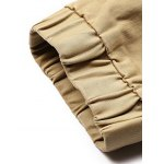 best Patched Zipper Pocket Drawstring Chino Jogger Pants
