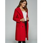 cheap Double-Breasted Woolen Overcoat