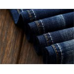 best Selvedge Embellished Splicing Distressed Straight Leg Jeans