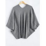 cheap Batwing Ribbed Cape Cardigan