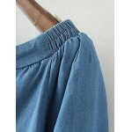 Off The Shoulder Drawstring Chambray Top deal