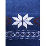 V-Neck Snowflake Sweater for sale
