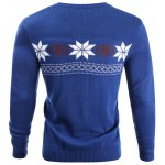 cheap V-Neck Snowflake Sweater