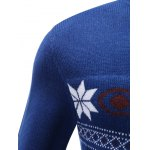 V-Neck Snowflake Sweater deal