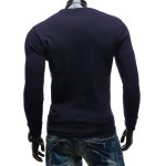 Crew Neck PU Spliced Sweatshirt deal