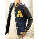 best Patch Design Varsity Striped Insert Baseball Jacket