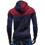 Kangaroo Pocket Color Block Hoodie deal