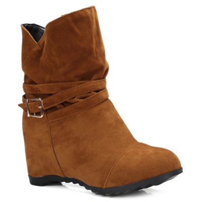 Pull On Wedge Wedge Boots