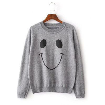 Smiling Face Pattern Knitwear
