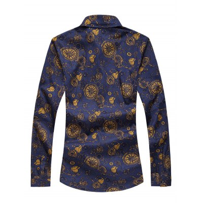 Plus Size Pocket Watch Print Long Sleeve ShirtPlus Size Tops<br>Plus Size Pocket Watch Print Long Sleeve Shirt<br><br>Shirts Type: Casual Shirts<br>Material: Cotton,Polyester<br>Sleeve Length: Full<br>Collar: Turn-down Collar<br>Weight: 0.350kg<br>Package Contents: 1 x Shirt