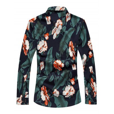 Plus Size 3D Flower Print Long Sleeve ShirtPlus Size Tops<br>Plus Size 3D Flower Print Long Sleeve Shirt<br><br>Shirts Type: Casual Shirts<br>Material: Cotton,Polyester<br>Sleeve Length: Full<br>Collar: Turn-down Collar<br>Weight: 0.350kg<br>Package Contents: 1 x Shirt