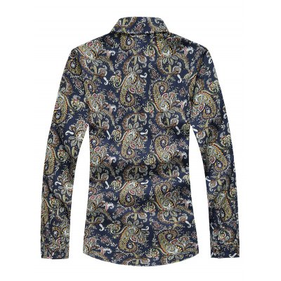 Plus Size 3D Vintage Paisley Print Long Sleeve ShirtPlus Size Tops<br>Plus Size 3D Vintage Paisley Print Long Sleeve Shirt<br><br>Shirts Type: Casual Shirts<br>Material: Cotton,Polyester<br>Sleeve Length: Full<br>Collar: Turn-down Collar<br>Weight: 0.350kg<br>Package Contents: 1 x Shirt