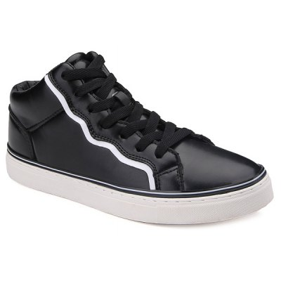 Colour Spliced Faux Leather Casual Shoes