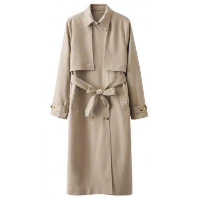 Overlayed Double Breasted Trench Coat