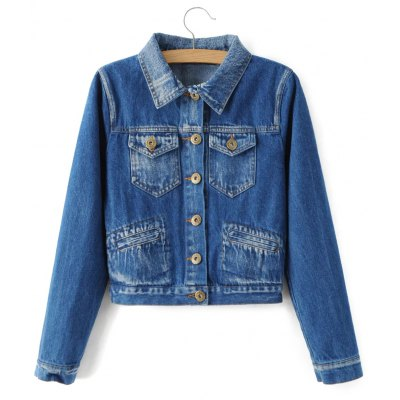 Single Breasted Jeans Jacket