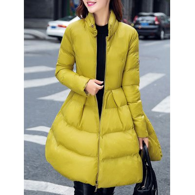 Fit and Flare Puffer Coat