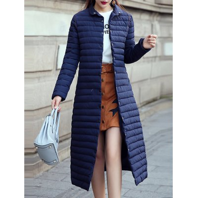 Button Up Long Quilted Coat
