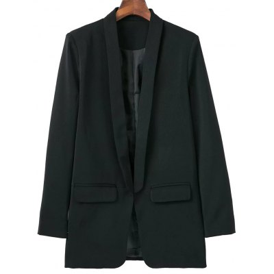 Shawl Collar Blazer With Pockets
