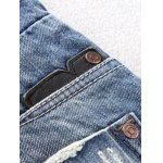 best Button Fly Five-Pocket Narrow Feet Ripped Jeans