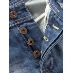 Button Fly Five-Pocket Narrow Feet Ripped Jeans deal