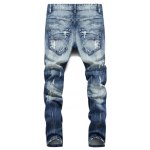 cheap Button Fly Five-Pocket Narrow Feet Ripped Jeans