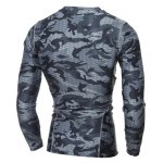 cheap Quick Dry girocollo Camo T-shirt
