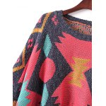 Batwing Sleeve Fringed Ribbed Sweater deal
