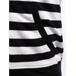 Striped Zip Up Black and White Hoodie men for sale