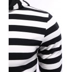 Striped Zip Up Black and White Hoodie Mens deal