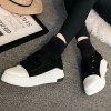 Hook and Loop Suede Knitted Ankle Boots deal